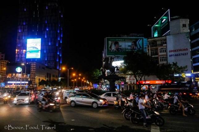 saigon traffic night