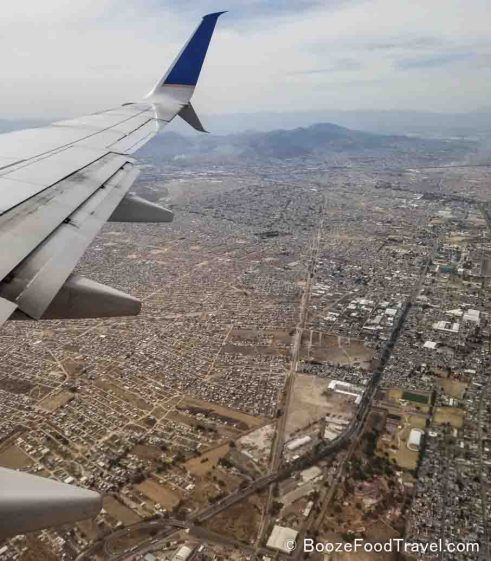 mexico from plane