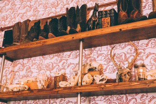 Atmospheric gimcracks and curios at Tack Room/ Photo: Steve Scap