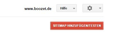 Sitemap anlegen in den Webmastertools