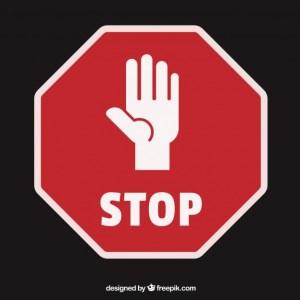 Pinterest Ads Stop Schild