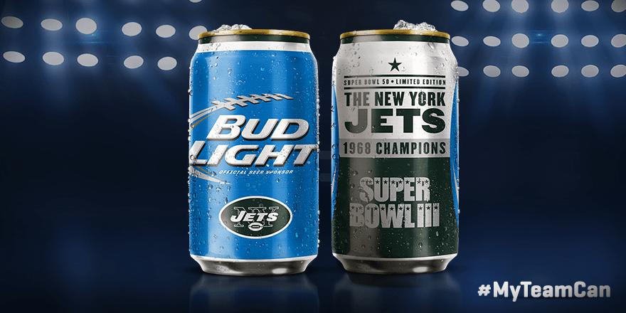 Jets Super Bowl  Cans