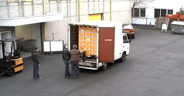 beer falls off truck