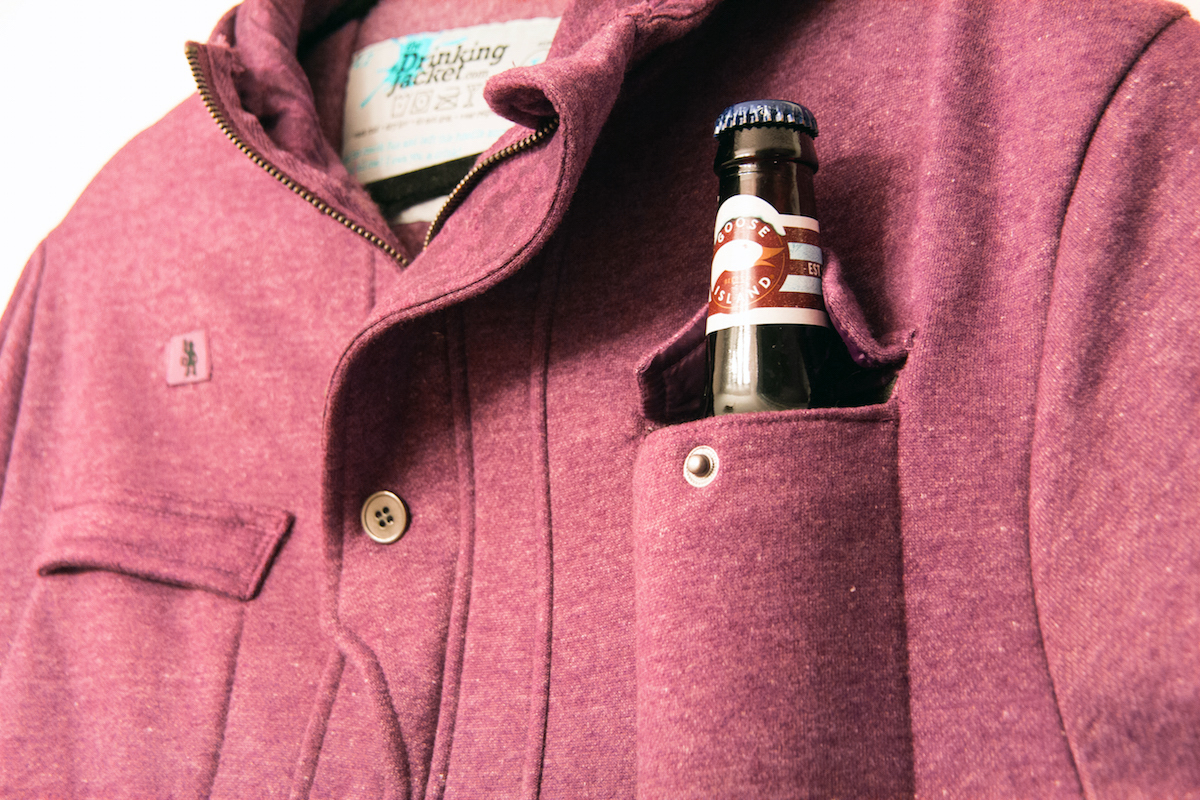 Drinking Jacket Beer Pocket
