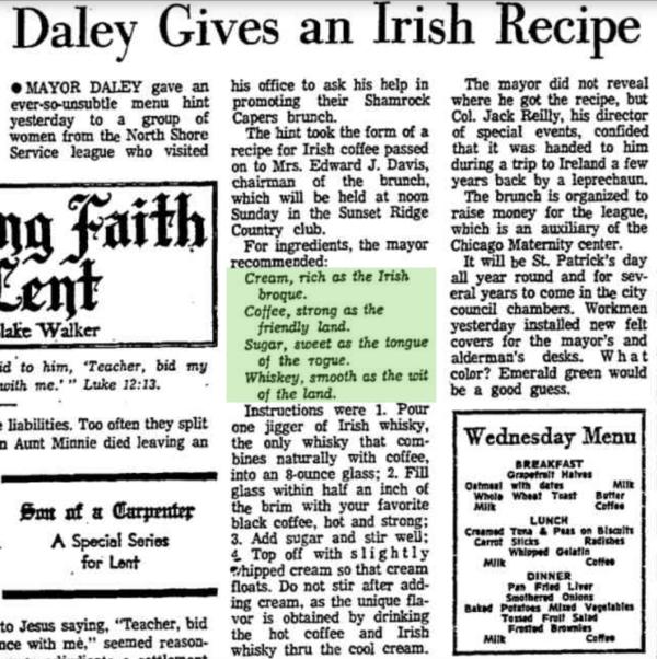 Irish Coffee Mayor Daley
