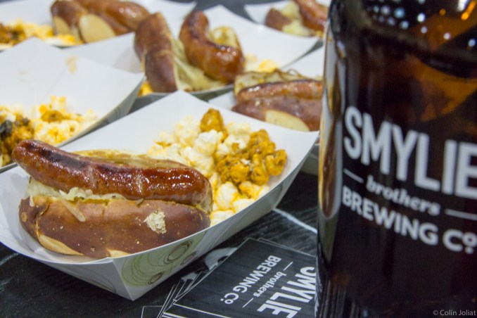Smylie Brothers Brewing - Bacon Hot link with bacon cracker jack