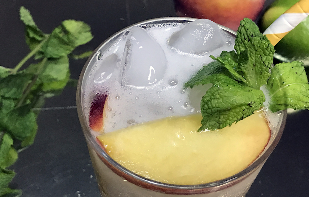 Peach Gin & Tonic recipe will make your night just a little bit fuzzier
