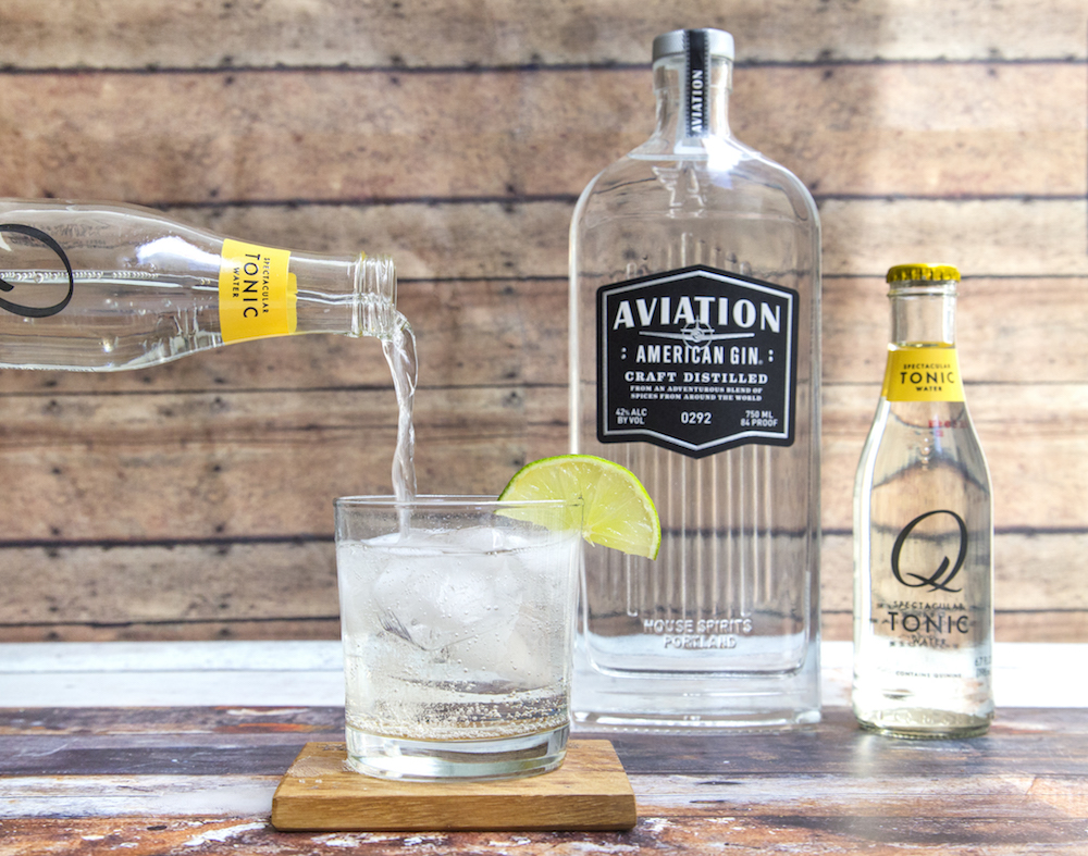 Q Drinks Tonic and Aviation Gin