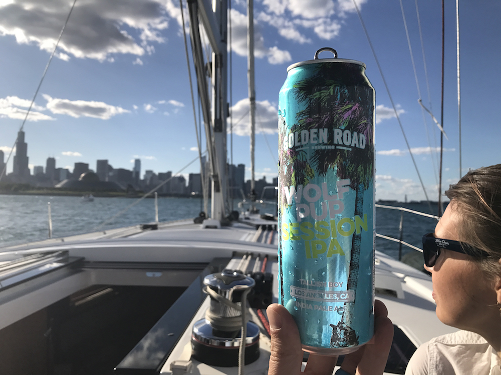 Wolf Pup Session IPA boating Boozist