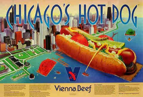 vienna beef Chicago hot dog