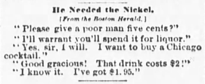 Chicago cocktail newspaper