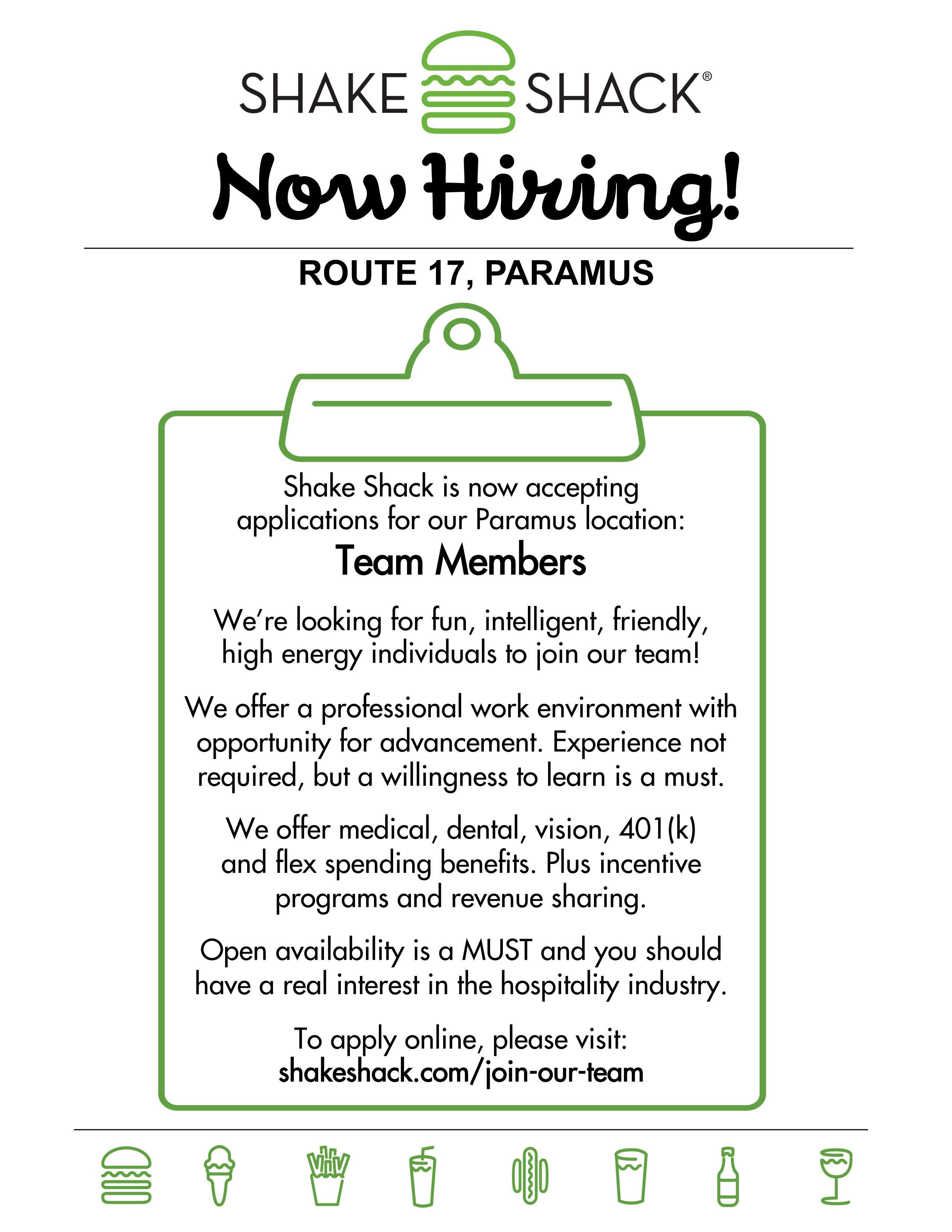 now hiring flyer