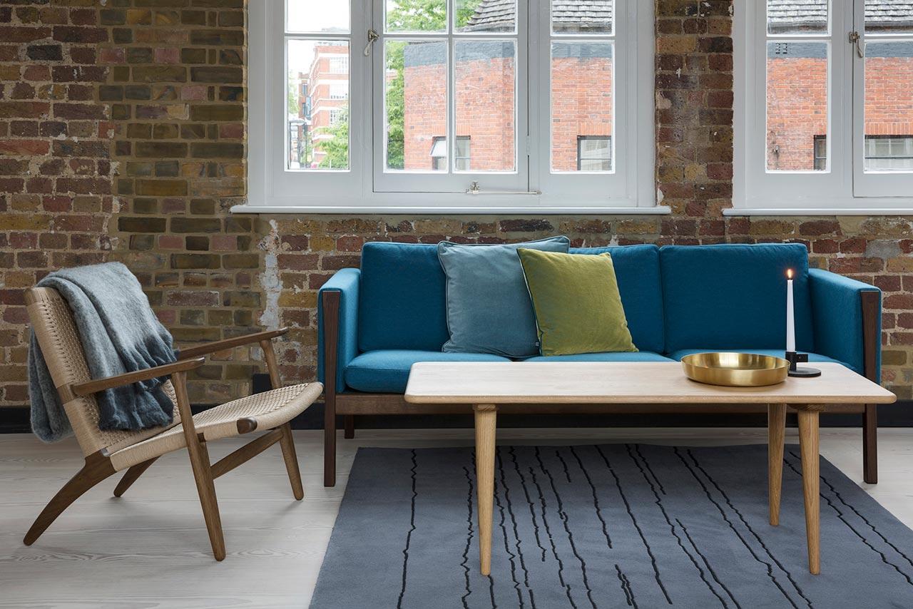 sectional sofas nyc showroom conversational sofa cover ch163 carl hansen  bord design furniture