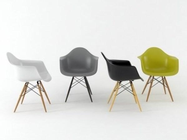 Eames Plastic Armchair DAW 5
