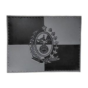 Bandeira do Rio de Janeiro, emborrachado, preta e cinza