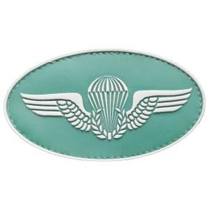 Brevê Paraquedista, emborrachado, verde