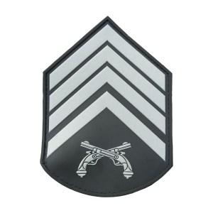 Divisa braço 2º Sgt PMERJ emborrachada cinza (par)