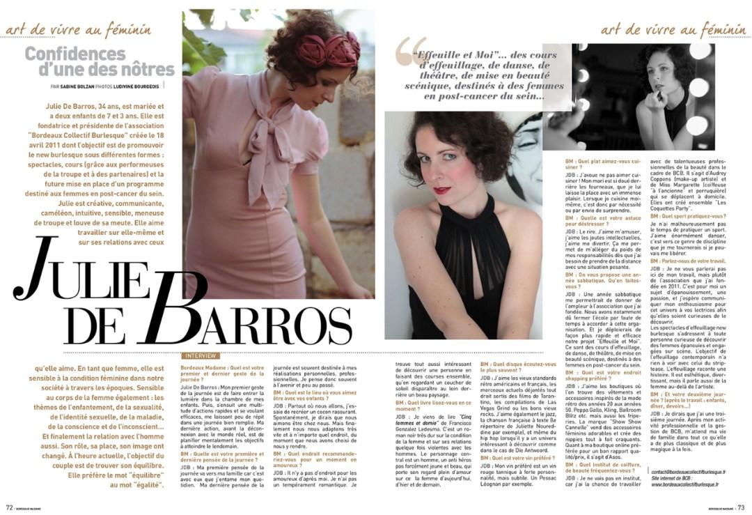 Bordeaux Madame n°64 – Julie De Barros