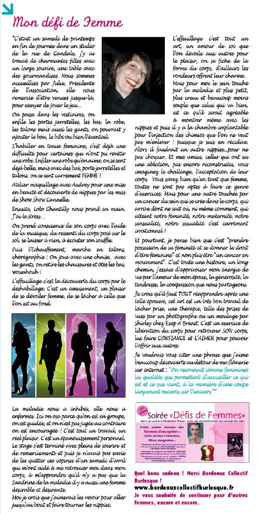 Bergonews n°16 – Témoignage de Sandrine Pierre