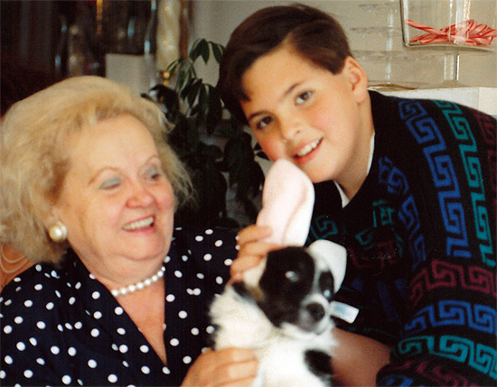 """Grandma, Me, and the """"Easter Bonnie"""" on Easter 1992"""
