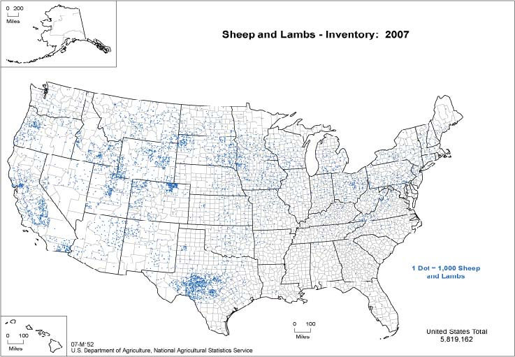 The US Sheep Industry Is BellyUp - Map of tomato consumption per capita in us