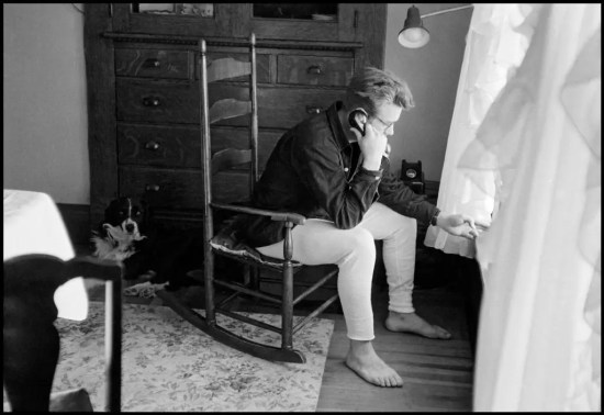 James Dean and Tuck. February 1955.