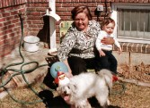 Grandma Margie, me and Rags, 1981