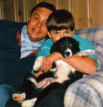 Dad, me, and Black Jack on my birthday in 1991