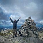 På toppen av Napen 1350 meter over havet