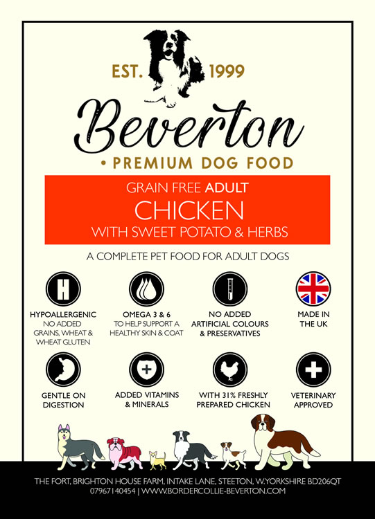Beverton Adult – Chicken, Sweet Potato & Herbs