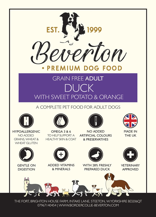 Beverton Adult – Duck, Sweet Potato & Orange