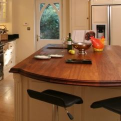 Cherry Wood Kitchen Table Folding Island Worktops. Made To Measure Wooden Worksurfaces.
