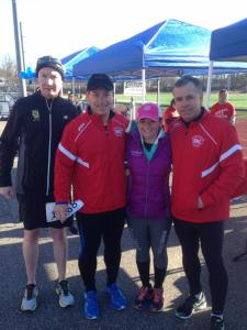 Bill Lovett, Race Director Chris Marshall, and Steve Cooper with Becca