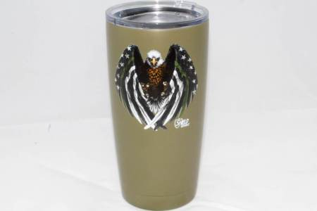 GREEN LINE EAGLE TUMBLER-OD - Glassware