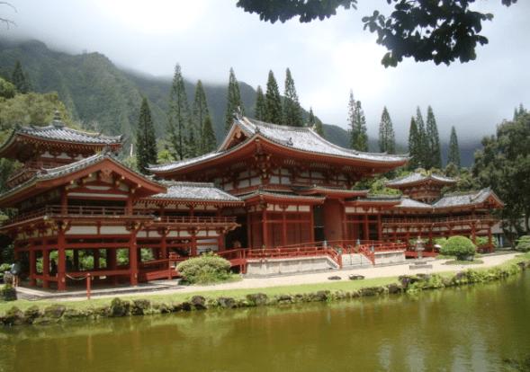 Northeast Side of Oahu, Hawaii Byodo-in Temple
