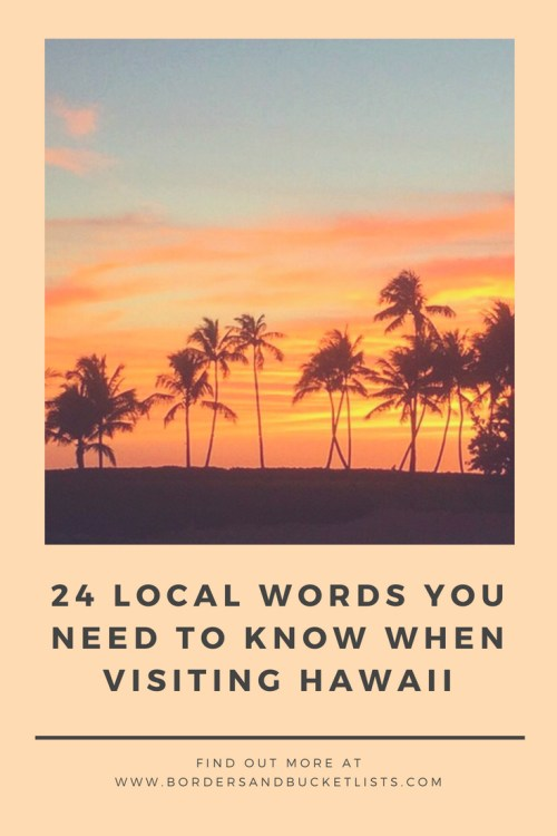 Local Words You Need to Know When Visiting Hawaii Pin