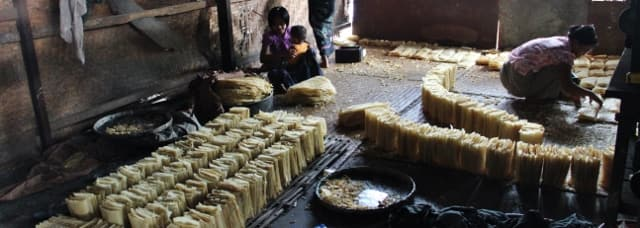 Bean curd factory Myanmar
