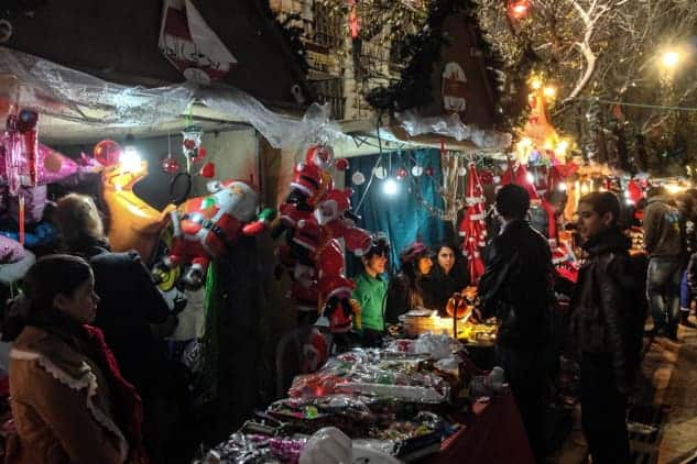 Christmas in Nazareth Old City, Israel