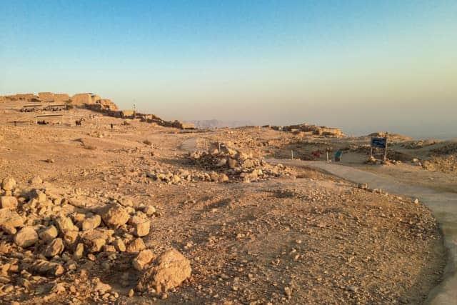 masada fortress sunrise, Israel desert