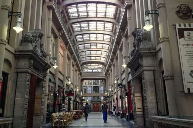 Courtyards arcades, Leipzig, Germany