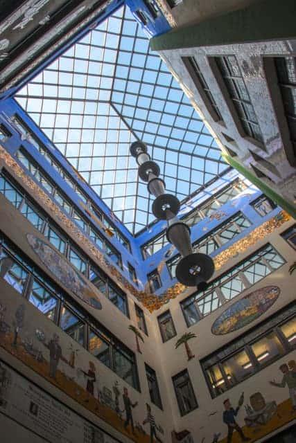 Courtyard arcades. Leipzig, Germany