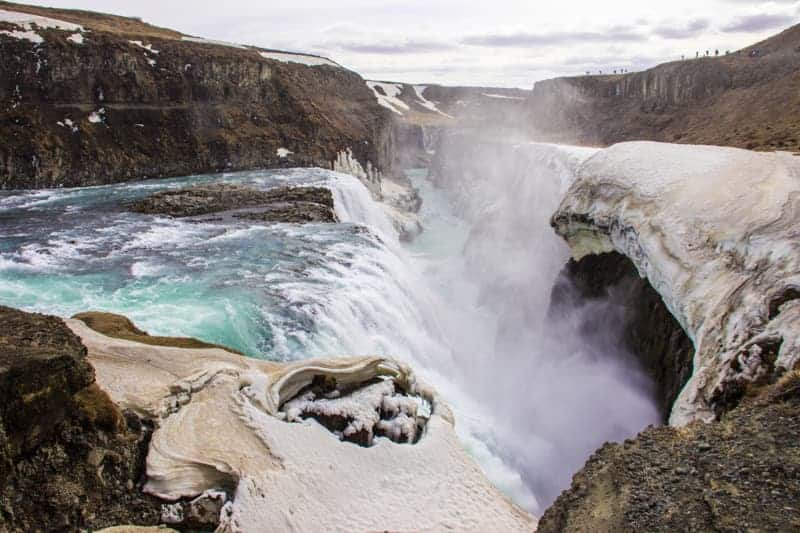 The Gullfoss waterfall, Iceland