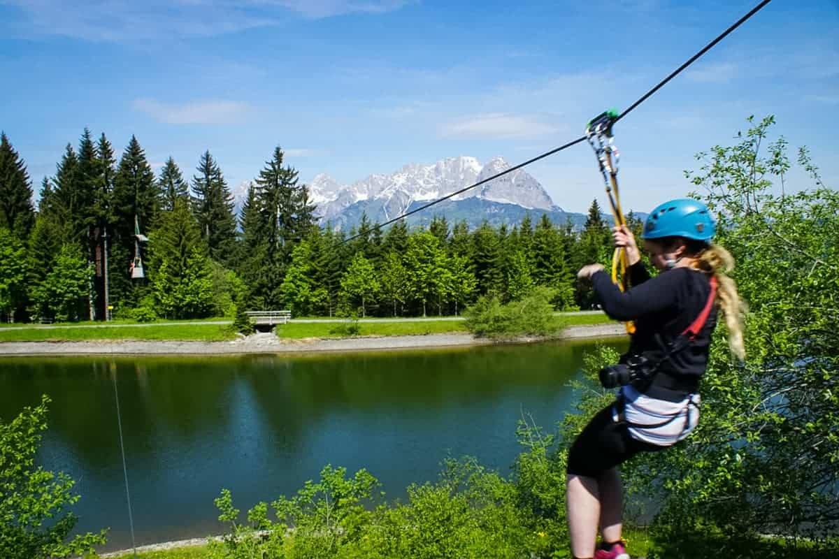 Horn Park climbing park, Tirol, Austria