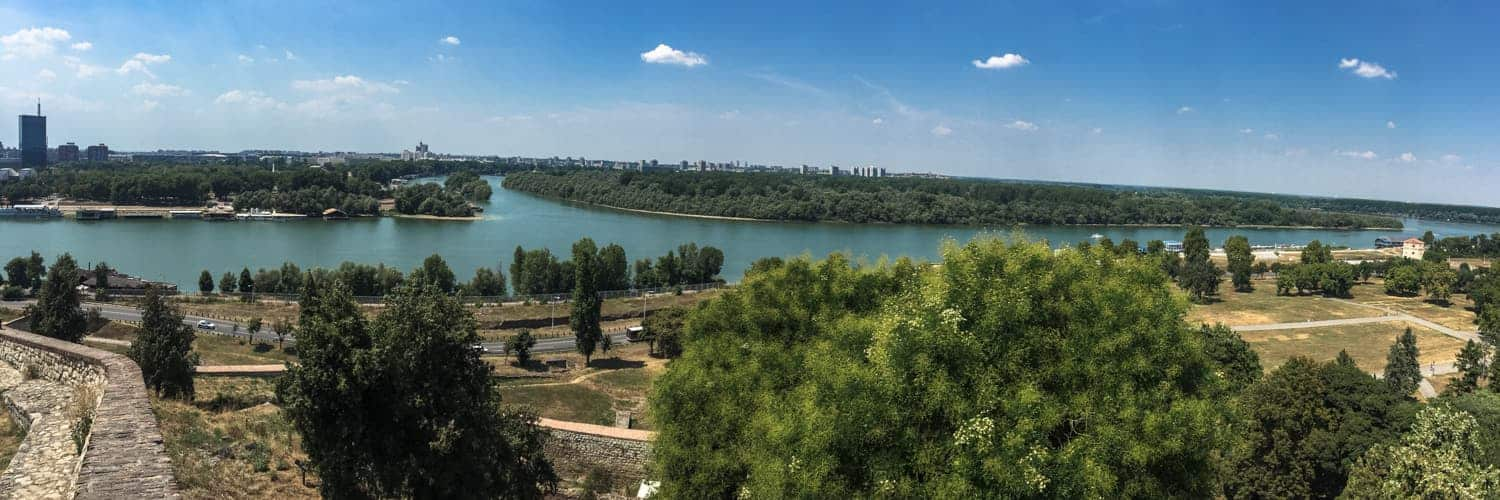 View from Fortress, Belgrade, Serbia