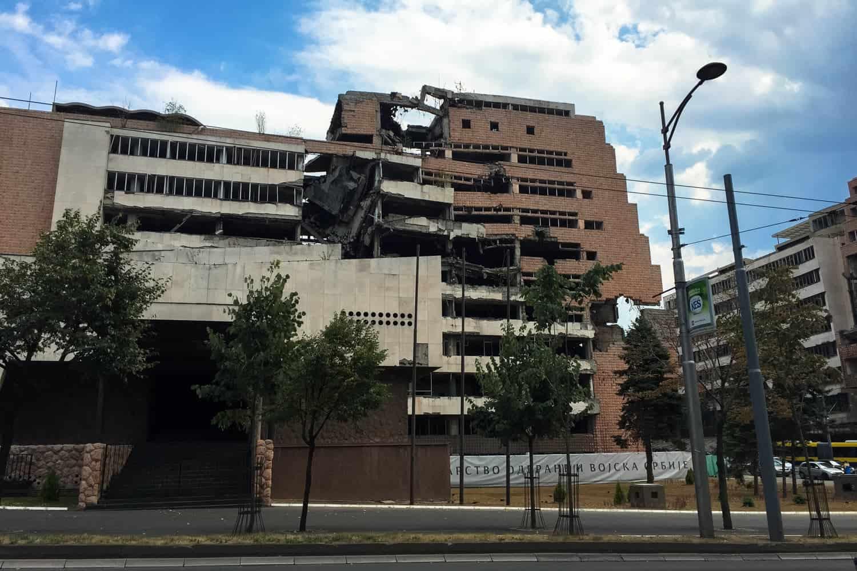 War damage, Belgrade, Serbia