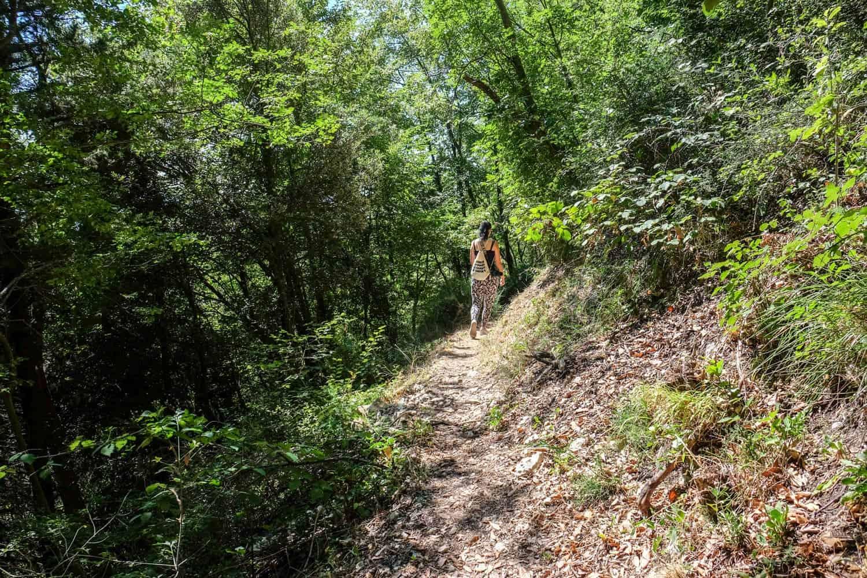 Hike Mount Titano. San Marino, Italy, Emilia Romagna