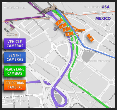 San Ysidro  Tijuana Live Traffic Cams
