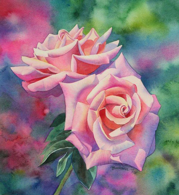 Watercolor Rose Painting Tutorial