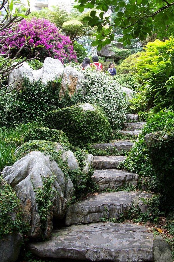 cool garden stair ideas