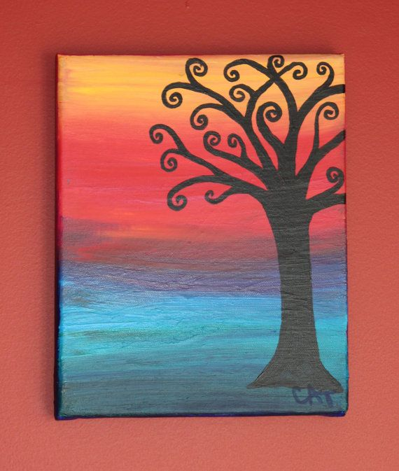 30 easy canvas painting